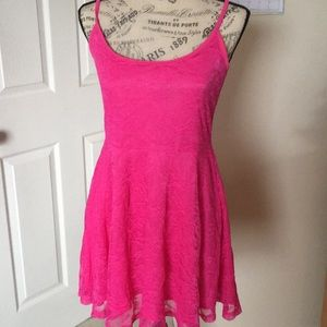 Hot pink lace dress from Divided - US 12